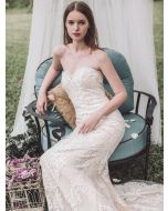 Sweetheart Neckline Mermaid Wedding Dress with Lace