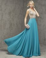 V-Neck A-Line Evening Dress