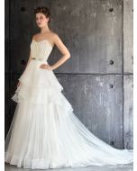 Sweetheart Neckline A-Line Wedding Dress in Tulle