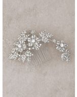 Sophisticated Crystal Floral Bridal Comb