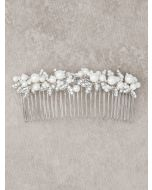 Elegant Pearl and Crystal Bridal Comb