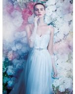 Sexy Low V-Neck Beaded Lace Wedding Dress