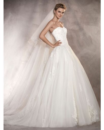 Sweetheart Neckline Princess Dress with Tulle