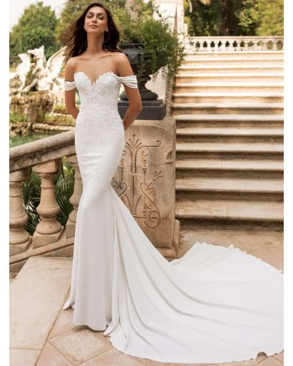 Sweetheart Neckline Mermaid Wedding Dress in Silk