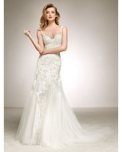 Sweetheart Neckline A-Line Wedding Dress with Straps