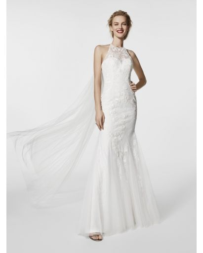 Halter Neckline Mermaid Cocktail Dress