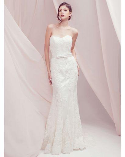 Sweetheart Neckline Mermaid Wedding Dress with Lace