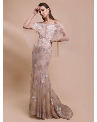 Romantic Off-The-Shoulder Evening Dress