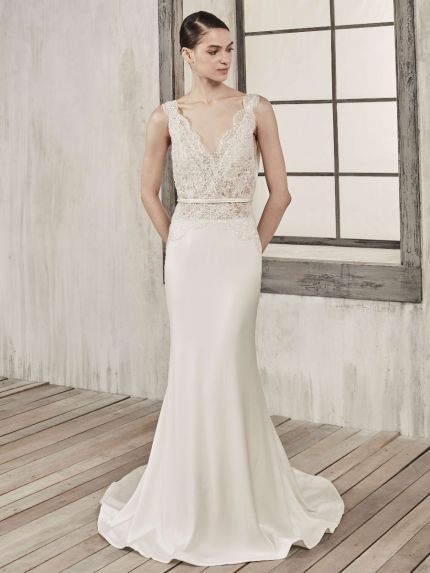 Mermaid Wedding Dress With Open Back