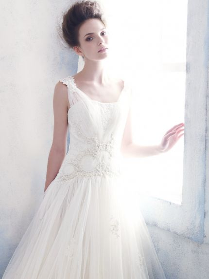 Princess Wedding Dress with Straps