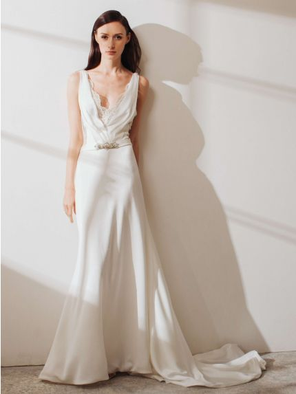 Luscious Crepe Mermaid Wedding Dress