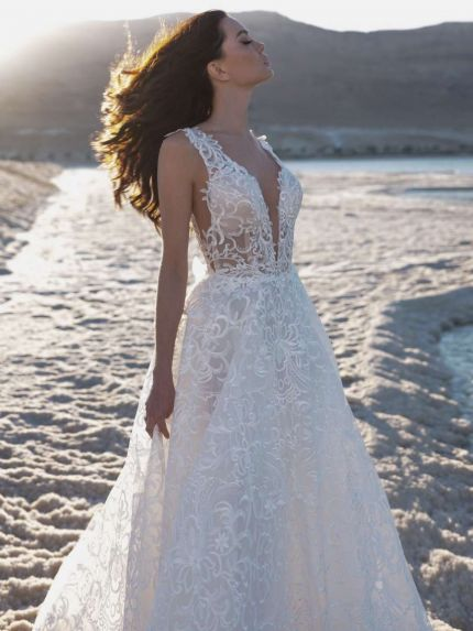 Spectacular Lace A-Line Wedding Dress