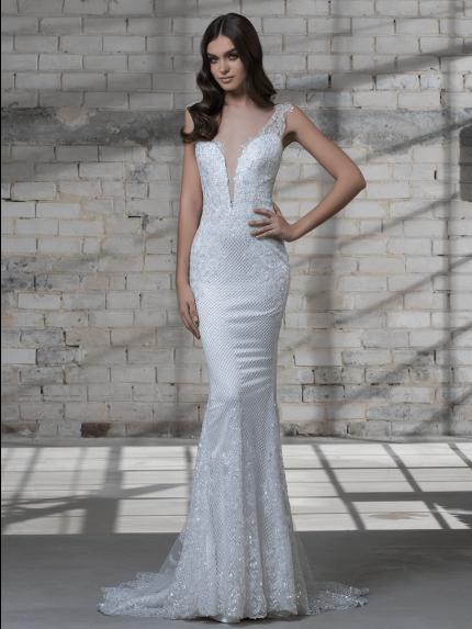 V-Neckline Mermaid Wedding Dress