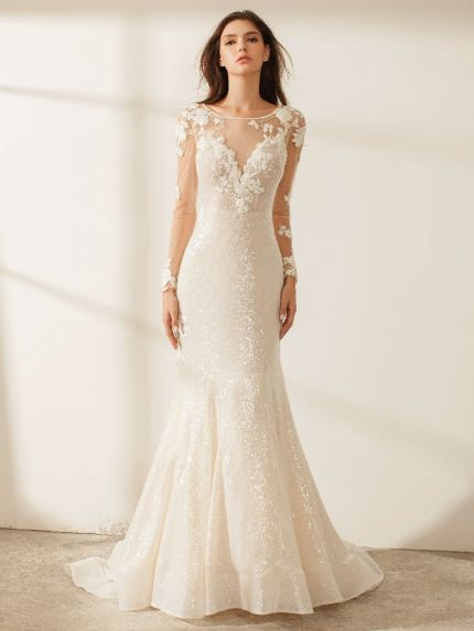 Sequined Mermaid Wedding Dress