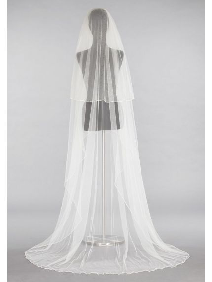 Elegant Satin Wrapped Veil