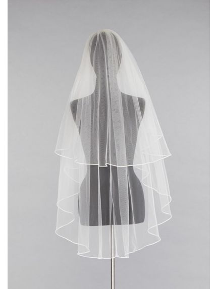 Modern Satin Trimmed Veil