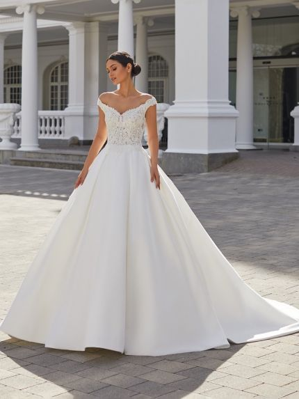 Embroidered Mikado Ball Gown