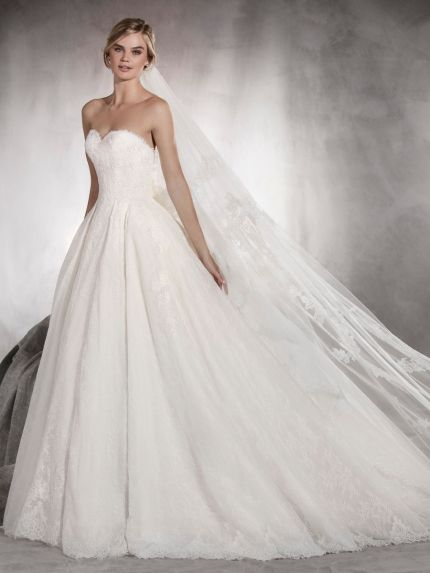 Sweetheart Neckline Princess Ball Gown with Lace