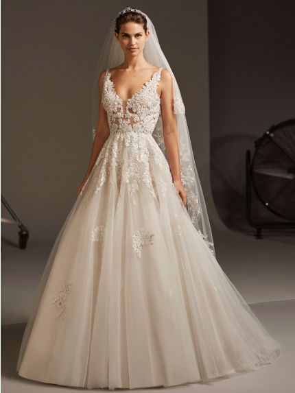 Lavishing Princess Wedding Dress