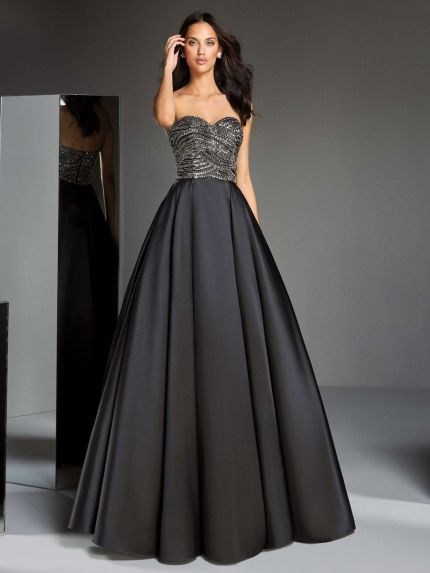 Sequin Sweetheart Princess Evening Gown