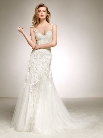 Sweetheart Neckline A-Line Wedding Dress with Straps
