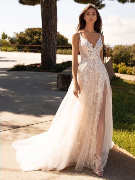 Spaghetti Straps A-Line Wedding Dress