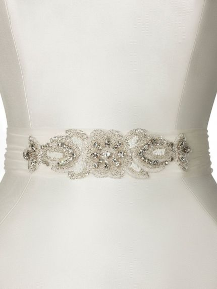 Unique Sequin Embroidered Tulle Belt