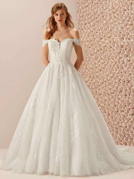 Off-the-Shoulder Princess Wedding Dress