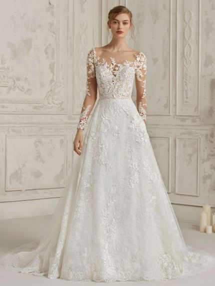 Princess Wedding Dress with Tattoo-Effect Bodice
