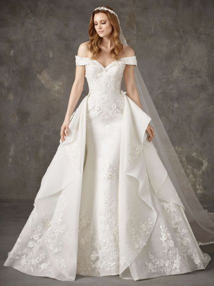 Mermaid Wedding Dress with Princess Overskirt