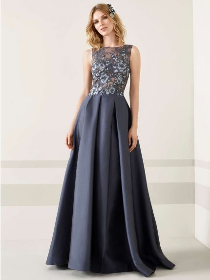 Mikado Evening Gown With Low Back