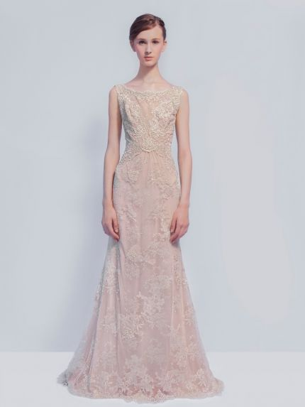Glamorous Sheer Lace Evening Dress