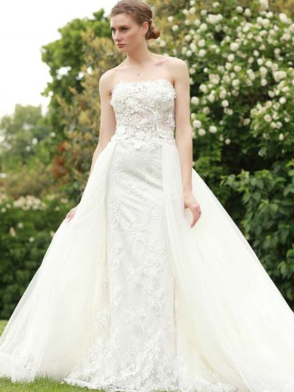 Sweetheart Neckline Mermaid Wedding Dress with Overskirt