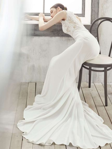 Crepe Mermaid Wedding Dress