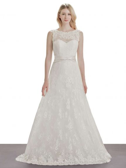 Classic Lace A-Line Wedding Dress