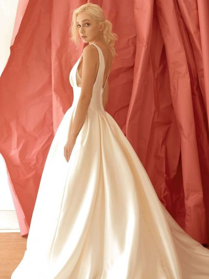 Sleek Mikado Princess Ball Gown with Pockets