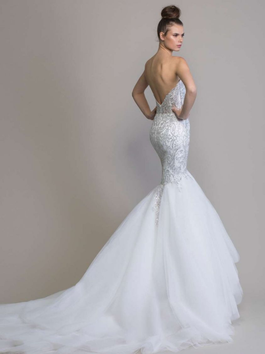 Love By Pnina Tornai 14758 Crystal Embellished Mermaid Wedding Dress Designer Bridal Room Malaysia,Traditional Wedding Dresses For Mens In Sri Lanka